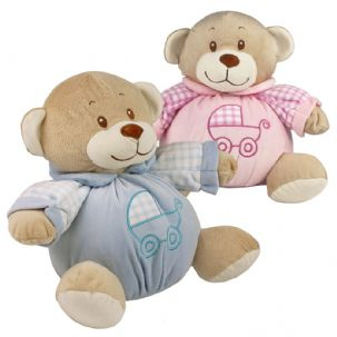 My First Baby Bear - Boy and Girl Nursery Soft Stuffed Animal Plush with Built-In Rattle